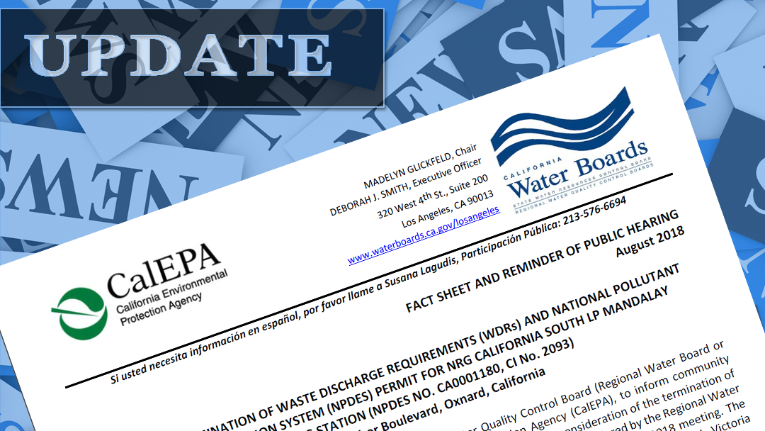 August 22 2018 Los Angeles Regional Water Quality Control Board – Fact sheet